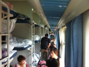 Hostelschlafsaal auf Schienen